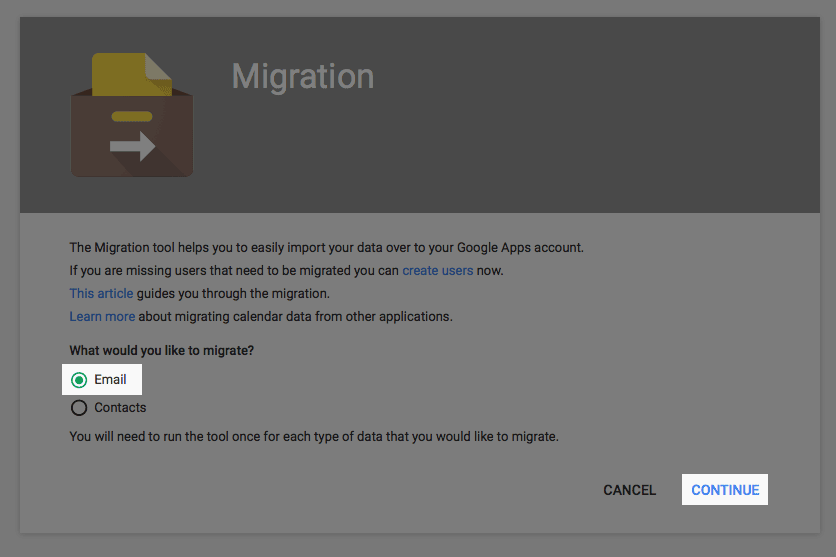 The migrations icon.