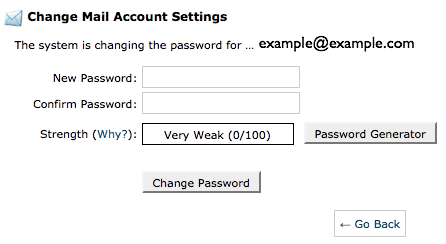 The password form.