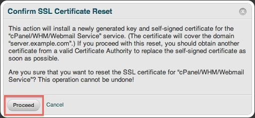 vps or dedicated hosting resetting the ssl certificates for your