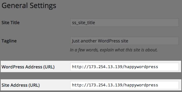 how to change site url in wordpress
